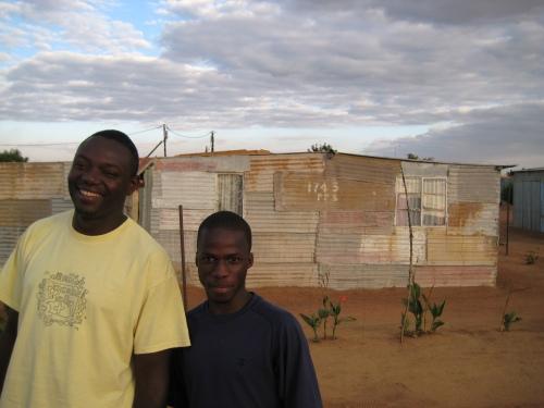 Luc Kabongo, Director of InnerChange in Soshanguve, with Daniel, a local youth he mentors.