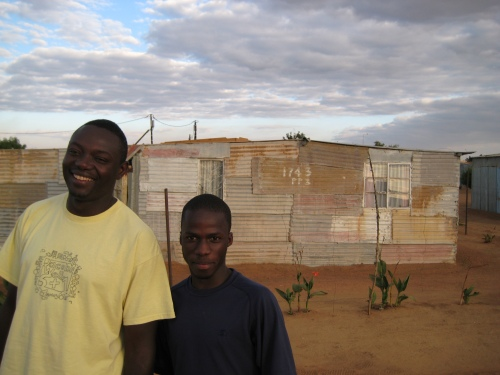 Luc Kabongo, Director of InnerChange in Soshanguve, with Daniel, a local youth he mentors.