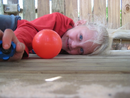 Sometimes an accident (the rolling of a red ball) creates a transcendant moment!