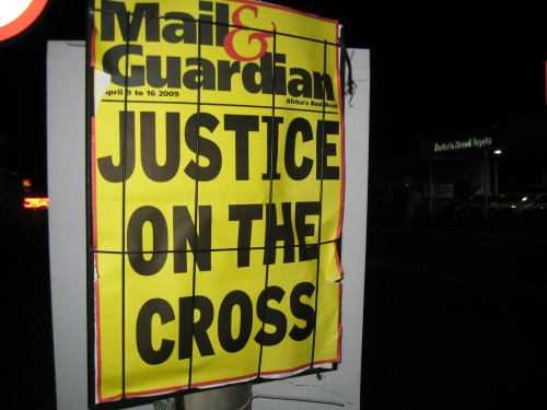 On a walk to get pizza Saturday night, the Mail & Guardian sums it up best.