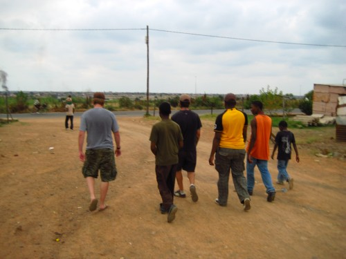 The other main activity of our time in Soshanguve.  Walking with the boys.
