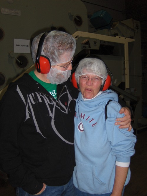 Who doesn't love hair + beard nets for a chocolate factory tour?