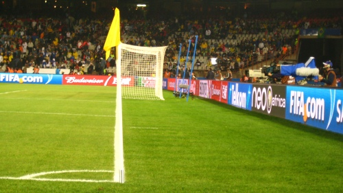 Lining up my shot.  Imagining I was actually standing ON the field.