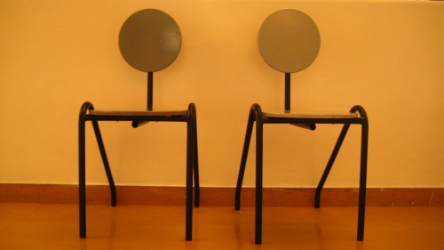 Inevitably, being chairs, there wasn't enough to talk about...and a great separation began to develop.