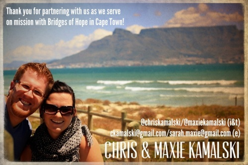 [Chris & Maxie Kamalski 2013 Prayer Card]